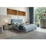 4ft or 5ft Birlea Mitchell Fabric Bedframe in Sky Blue